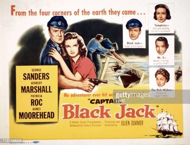 Captain Blackjack poster embracing from left George Sanders Patricia Roc 1950