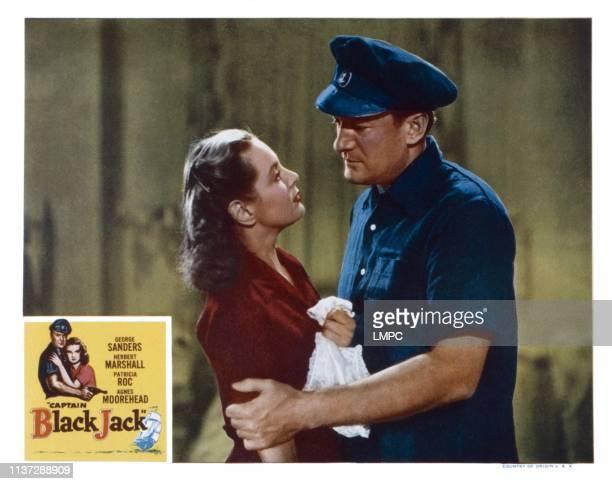 Captain Blackjack US lobbycard from left Patricia Roc George Sanders 1950
