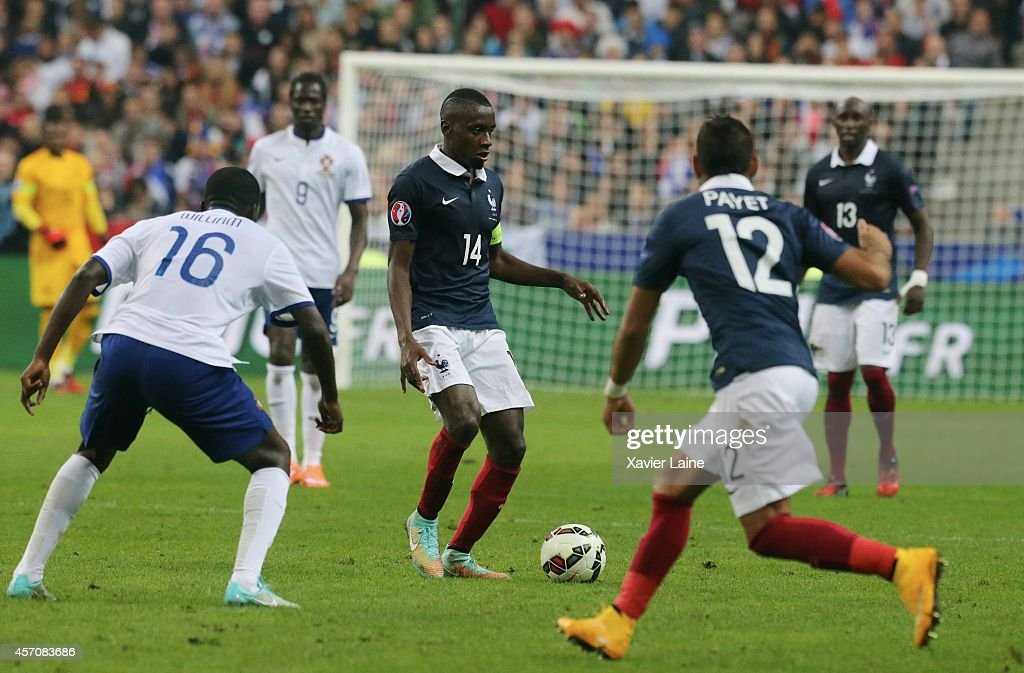 captain Blaise Matuidi of France during the International Friendly Soccer match between France and Portugal at Stade de France on october 11, 2014 in Paris, France.