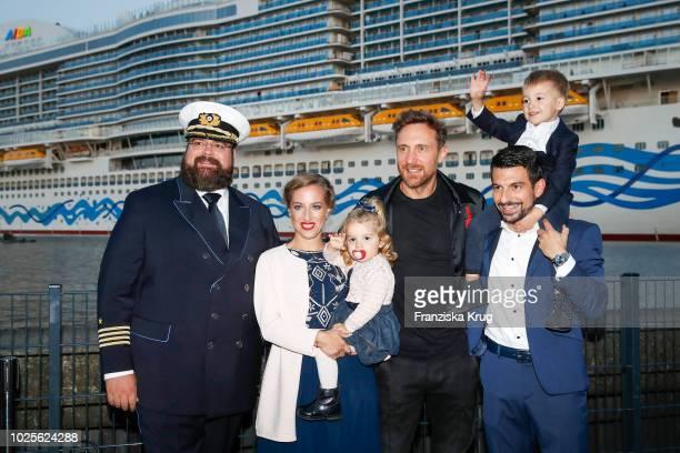 Captain Boris Becker the christening family Sonja Mirza Sophia Mirza Asad Mirza and Adrian Mirza and DJ David Guetta during the christening of...
