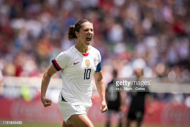 Captain Carli Lloyd of United States celebrates scoring goal in the 2nd half of the International Friendly match the US Women's National Team and...