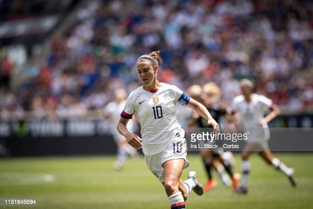 Captain Carli Lloyd of United States comes around the pitch toward the goal during the International Friendly match the US Women's National Team and...