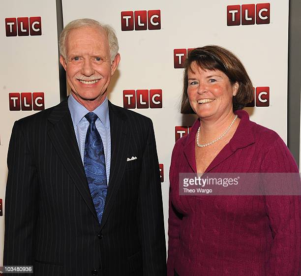 Captain Chesley Sully Sullenberger and TLC President and General Manager Eileen O'Neill attend the premiere of Brace for Impact at the Walter Reade...