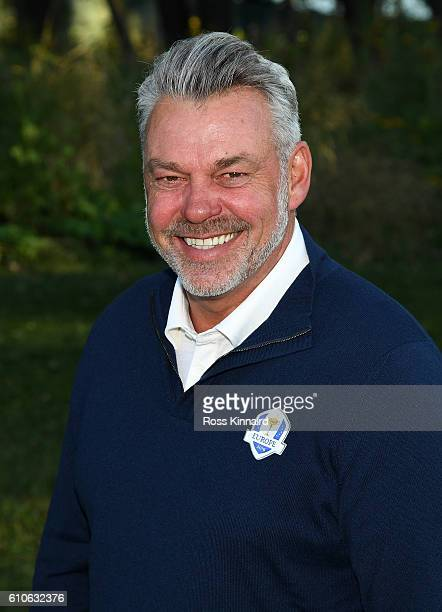Captain Darren Clarke of Europe poses during team photocalls prior to the 2016 Ryder Cup at Hazeltine National Golf Club on September 27 2016 in...