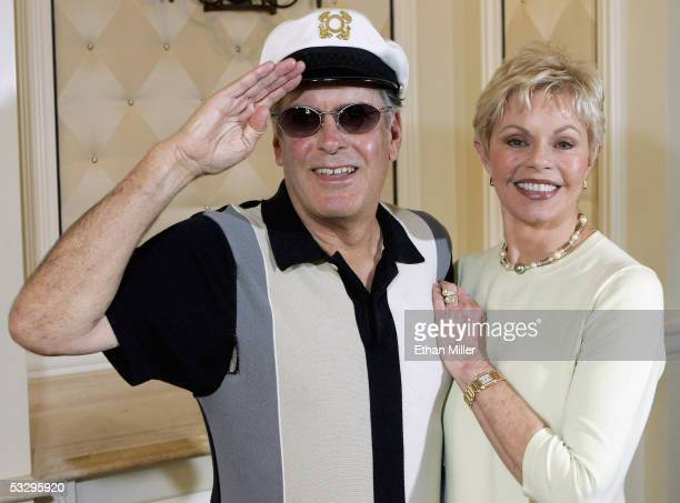 """""""Captain"""" Daryl Dragon and his wife Toni Tennille of the music duo The Captain and Tennille, pose at the Video Software Dealers Association's annual..."""