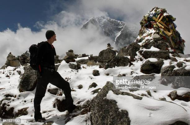 Captain David Wiseman from Tadcaster North Yorkshire with the Walking with the Wounded team near Lobuche during their attempt to climb Everest
