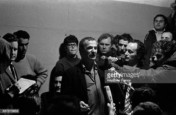 Captain Ezra is interviewed on his arrival in Haifa, Israel on January 2, 1970 - The captain brings in Israel boats from Cherbourg.