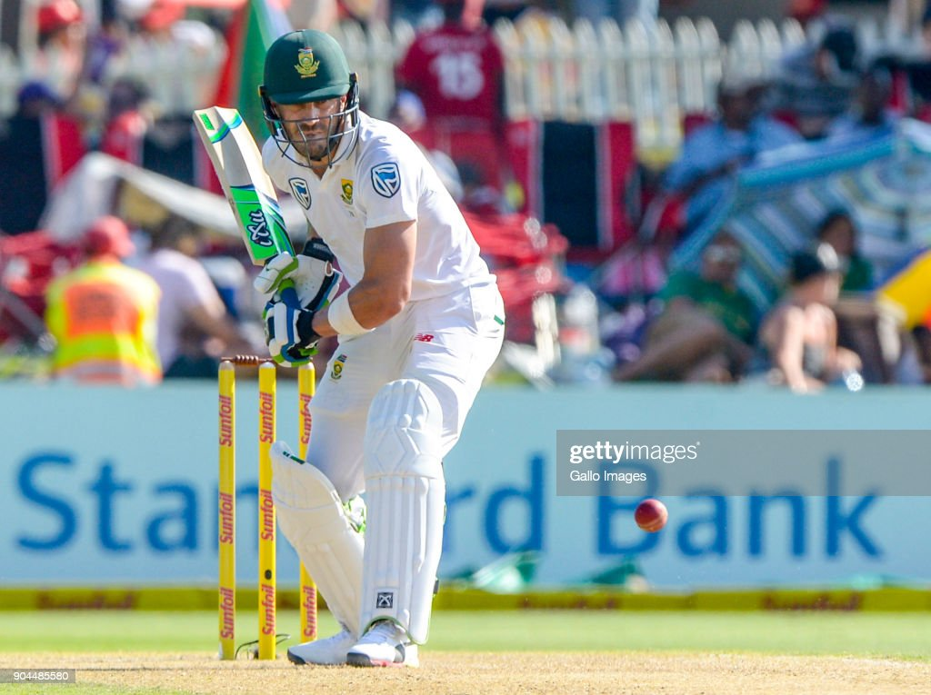 Captain Faf du Plessis of South Africa during day 1 of the 2nd Sunfoil Test match between South Africa and India at SuperSport Park on January 13, 2018 in Pretoria, South Africa.