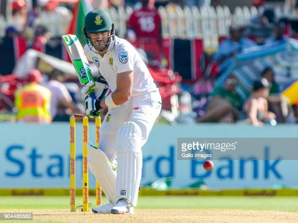 Captain Faf du Plessis of South Africa during day 1 of the 2nd Sunfoil Test match between South Africa and India at SuperSport Park on January 13...
