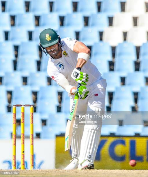 Captain Faf du Plessis of South Africa during day 4 of the 2nd Sunfoil Test match between South Africa and India at SuperSport Park on January 16...