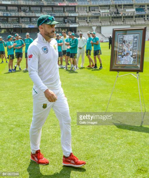 Captain Faf du Plessis of South Africa during day 5 of the 4th Sunfoil Test match between South Africa and Australia at Bidvest Wanderers Stadium on...