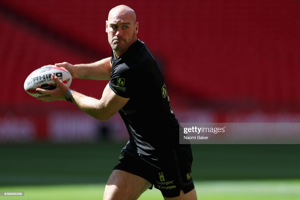 Captain Gareth Ellis during the Hull FC Captain's Run at Wembley Stadium on August 25, 2017 in London, England.
