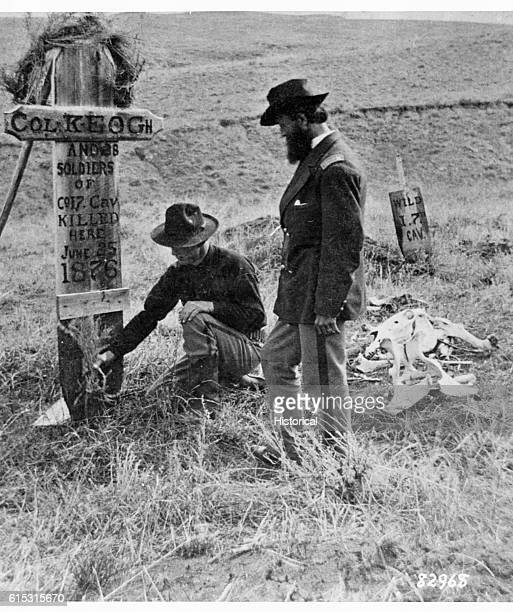 Burial site of Captain Keogh and 38 men of the Seventh Cavalry who died during the Battle of Little Bighorn The only survivor of the 7th Cavalry was...
