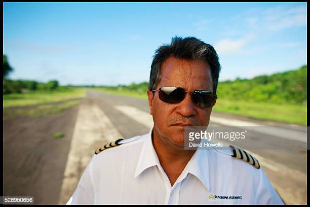 Captain Gerry Gouveia stands on the airstrip at Port Kaituma Guyana where Congressman Leo Ryan and other victims of the Jonestown massacre were shot...