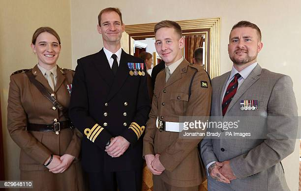 Captain Hannah Winterbourne Commodore Mark Vartan Private Jake Farr and Retired Corporal Stuart Robinson who are all nominees for a Millie The Sun...
