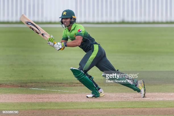 Captain Hasan Khan of Pakistan run between wicketsduring the ICC U19 Cricket World Cup match between Pakistan and Ireland at Cobham Oval on January...