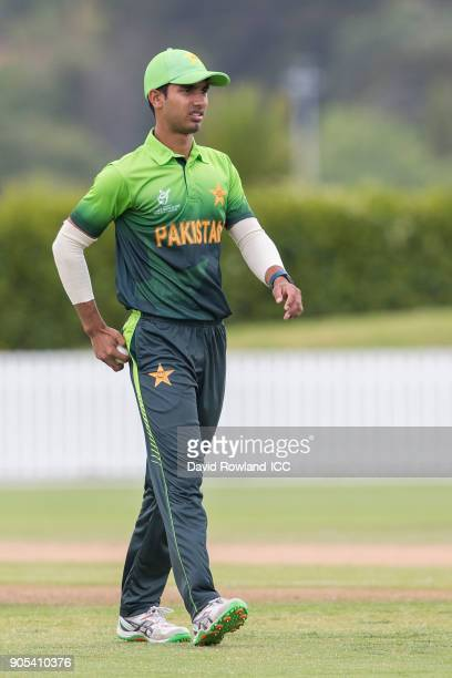 Captain Hassan Khan of Pakistan during the ICC U19 Cricket World Cup match between Pakistan and Ireland at Cobham Oval on January 16 2018 in...