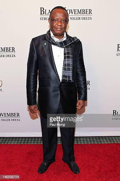 Captain Hosa Okunbo attends the 'Black November' film screening at The Library of Congress on February 29 2012 in Washington DC