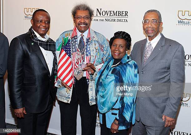 Captain Hosa Okunbo Don King Rep Shiela Jackson Lee and Rep Bobby Rush attend the 'Black November' film screening at The Library of Congress on...