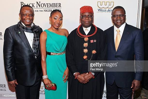 Captain Hosa Okunbo Mbong Amata King Frank Okurakpo and Timi Alaibe attend the 'Black November' film screening at The Library of Congress on February...