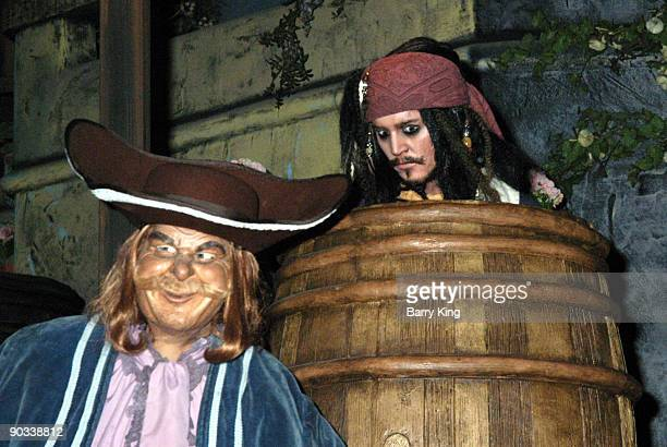 Captain Jack Sparrow in the Pirates of the Caribbean Ride at Disneyland