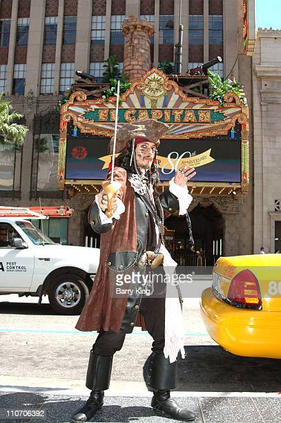 Captain Jack Sparrow outside the El Capitan Theatre Hollywood CA