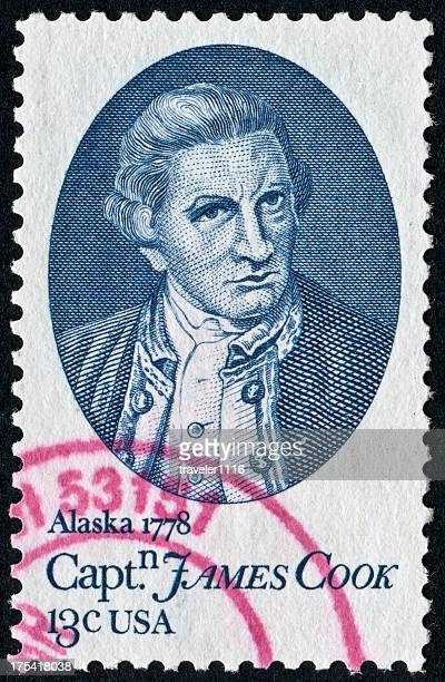 captain james cook stamp - captain cook stock pictures, royalty-free photos & images