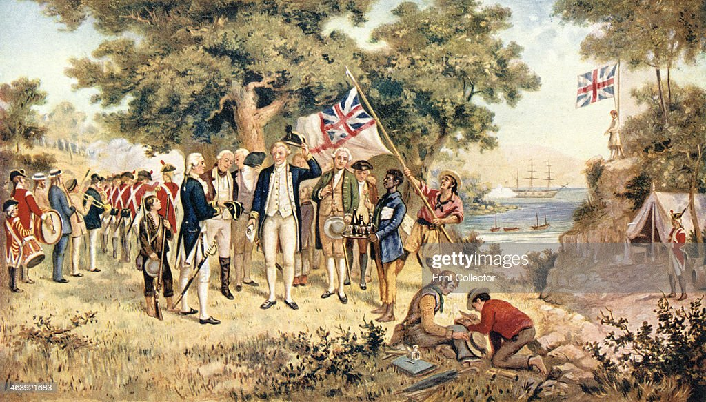 Captain james cook taking possession of new south wales in the captain james cook taking possession of new south wales in the name of the british crown sciox Images