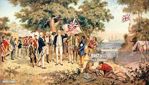 Captain James Cook taking possession of New South Wales in the name of the British Crown 1770 James Cook English explorer navigator and hydrographer...