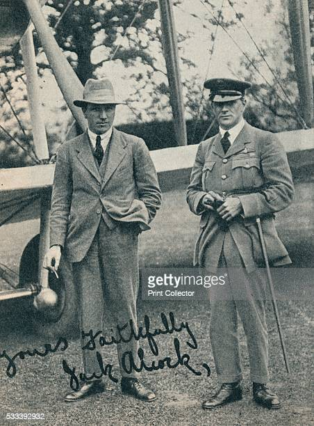 Captain John Alcock and Lieutenant Arthur Whitten Brown British aviators' from 'Wonders of World Aviation Vol 1' by Clarence Winchester c1937 John...