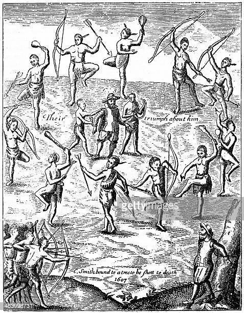 Captain John Smith taken prisoner by the Indians Virgina 1607 John Smith a member of the Jamestown colony in Virginia was captured by Native...