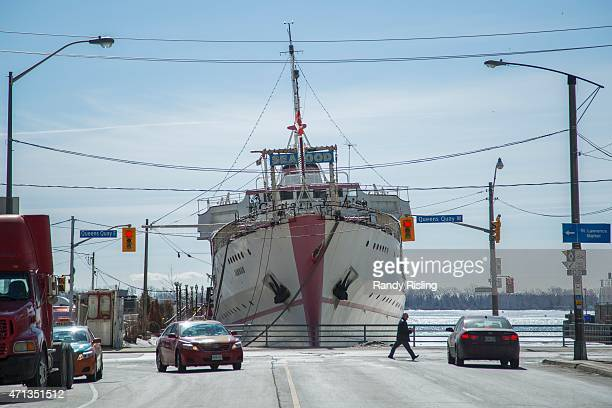 Captain John's appears to be listing to the left in the Toronto harbour