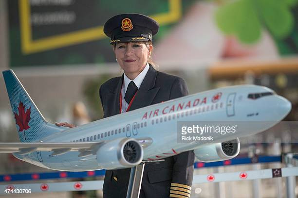 TORONTO MAY 22 Captain Judy Cameron readies herself for her final two legs of her flying career The first female pilot hired by a major career in...