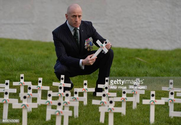 Captain Ken Geary exForeign Legion at a ceremony as relatives of Irish war dead and campaigners seek to preserve one of the last remaining British...