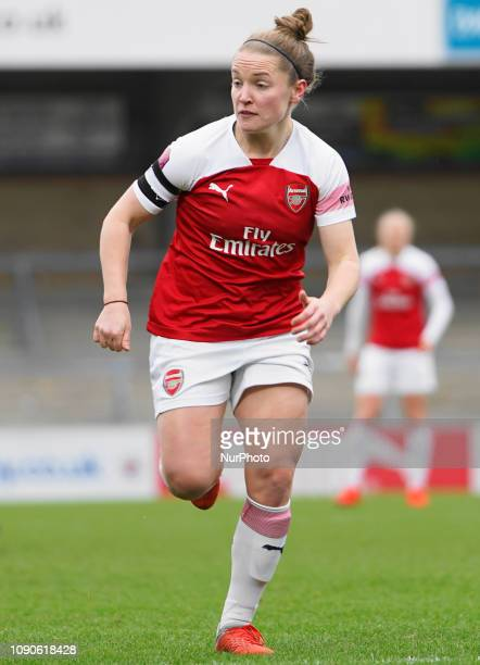 Captain Kim Little of Arsenal directing the midfield during the FA Women's Super league football match between Reading Women and Arsenal Women at...