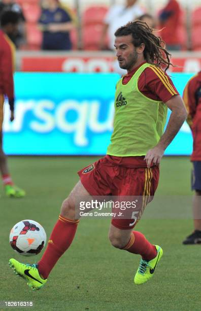 Captain Kyle Beckerman of Real Salt Lake practices before a game against DC United at Rio Tinto Stadium October 1 2013 in Sandy Utah