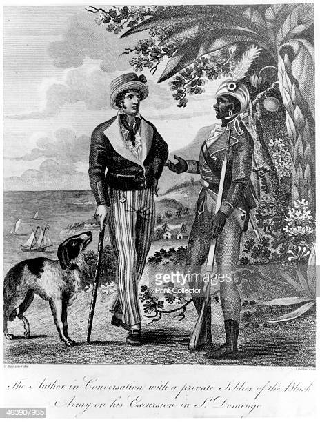 Captain Marcus Rainsford with a private soldier of the Black Army, 1805. A British Army officer, Rainsford was in Saint Domingue when the colony's...