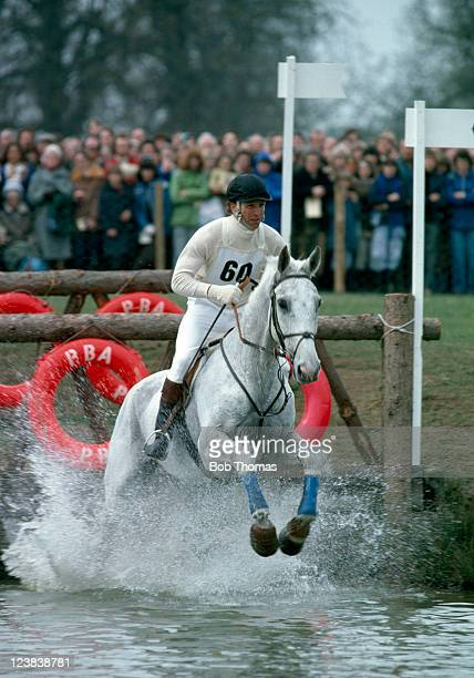 Captain Mark Phillips competing during the Badminton Horse Trials circa April 1979