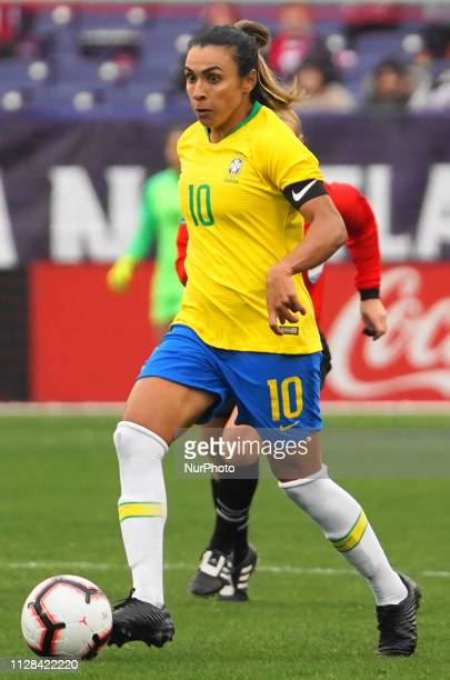 Captain Marta of Brazil during the SheBelieves Cup match between Brazil and Japan at Nissan Stadium on March 2 2019 in Nashville Tennessee United...
