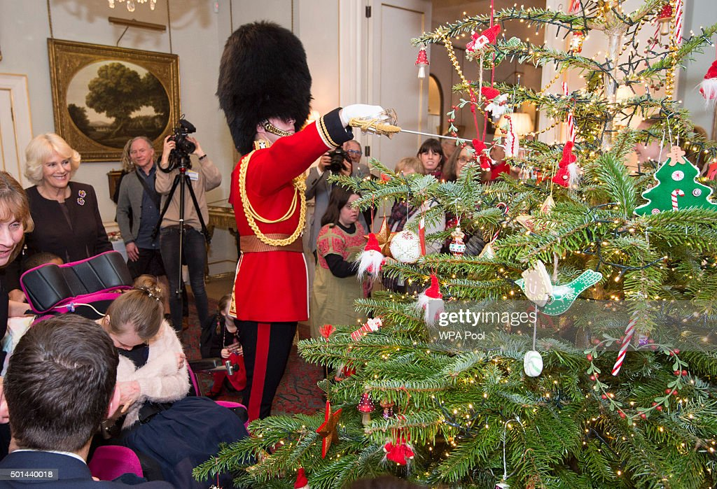 Duchess of Cornwall Attends the Helen & Douglas House and The London Taxidrivers' Fund Christmas Lunch : News Photo