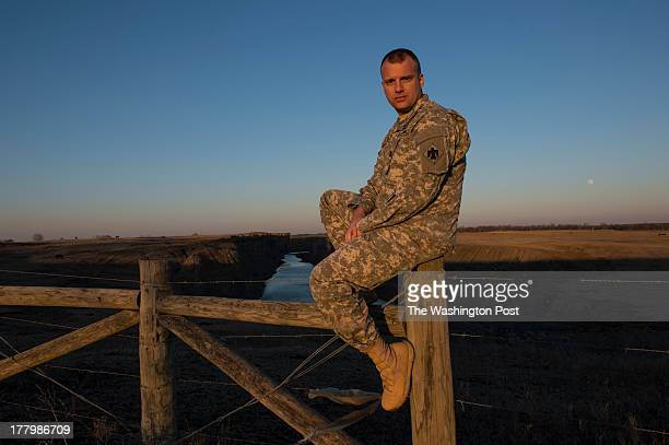Captain Michael Bolton employment coordinator for the Oklahoma National Guard's Employment Coordination Program pose for a portrait on February 24th...