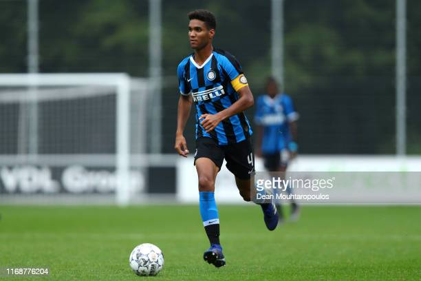 Captain Michael Ronaldo Mboe Ntube of Inter in action during The Otten Cup Final match between PSV Eindhoven and Internazionale or Inter Milan held...