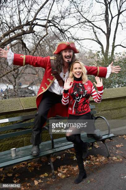 Captain Morgan and Anna Camp took fun to another level and showed people how to holiday like a Captain in Central Park on Monday December 18 2017 in...