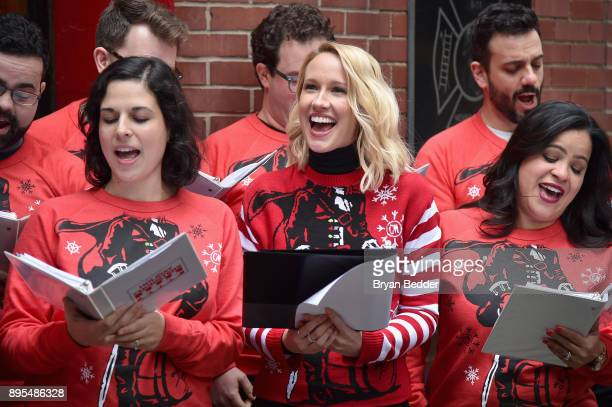 Captain Morgan Anna Camp and the New York City Holiday Choristers took fun to another level and showed people how to holiday like a Captain on Monday...