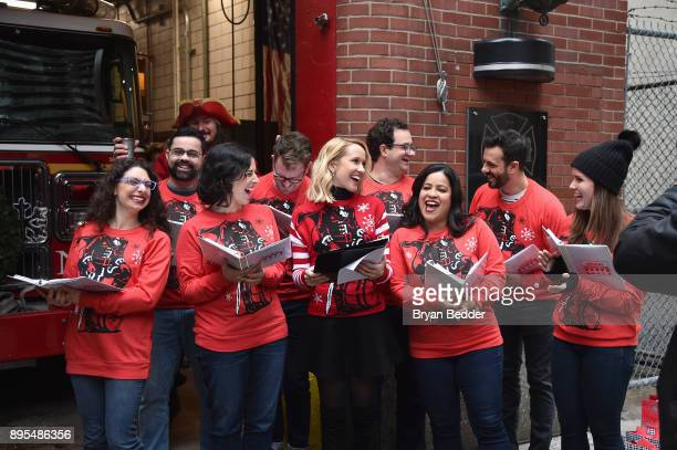 Captain Morgan Anna Camp and the New York City Holiday Choristers took fun to another level with New York's Bravest and showed them how to holiday...