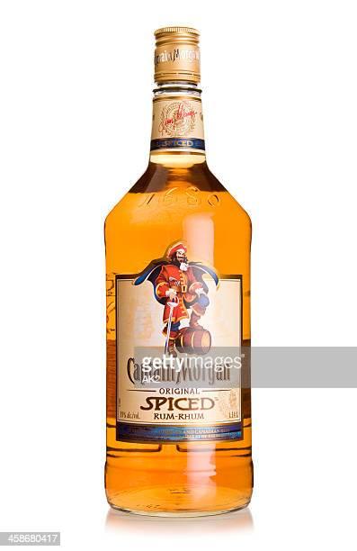 captain morgan rum bottle - morgan brown stock photos and pictures