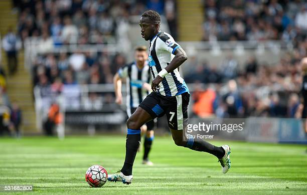 Captain Moussa Sissoko of Newcastle United in action during the Premier League match between Newcastle United and Tottenham Hotspur at St James' Park...