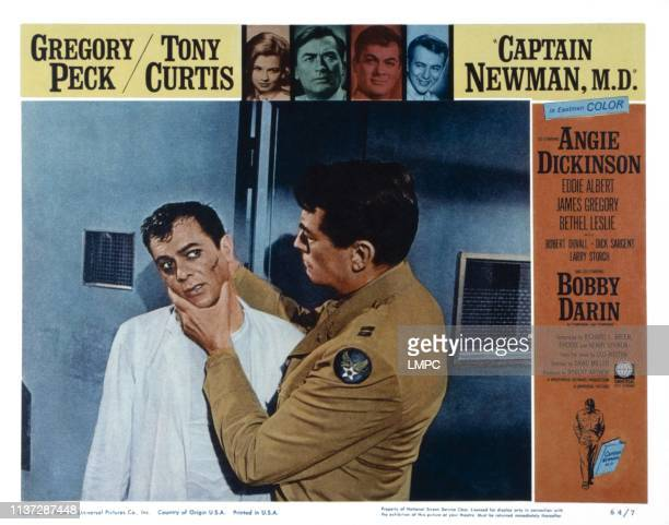Captain Newman MD US lobbycard from left Tony Curtis Gregory Peck 1963