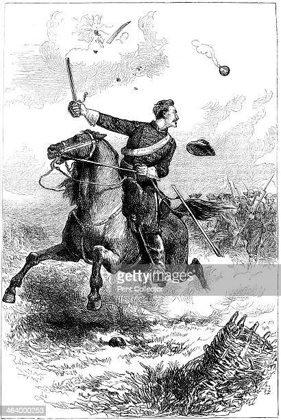 Captain Northrop leading the attack at Knoxville Tennessee American Civil War 1863 The Knoxville Campaign was fought in the autumn of 1863 A print...