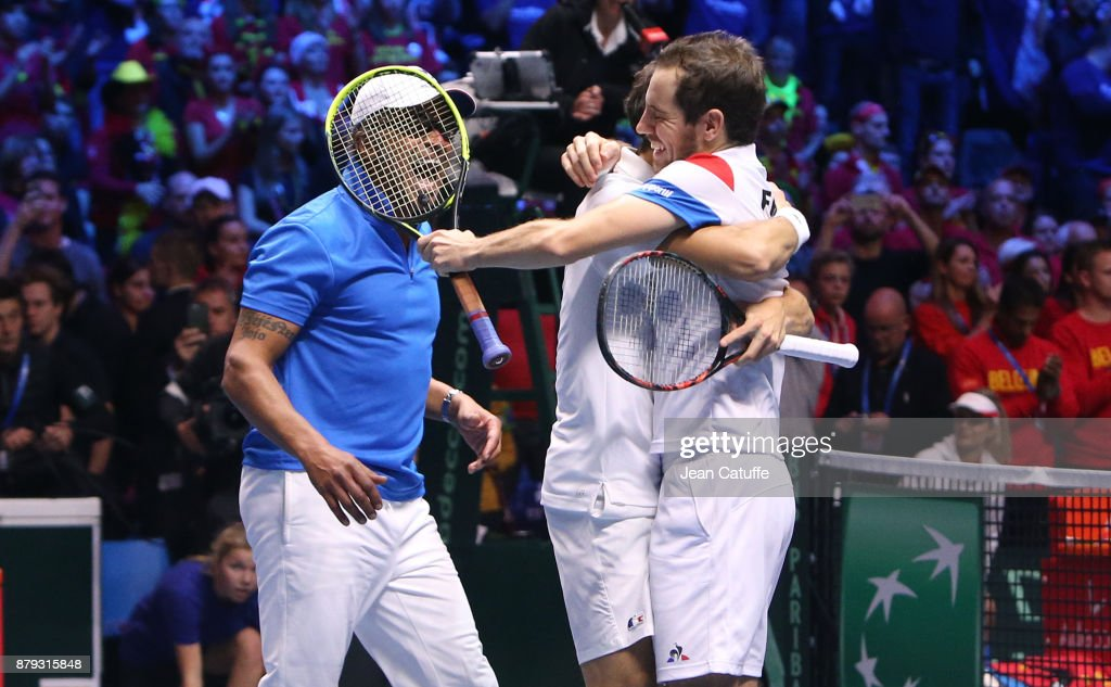 Davis Cup World Group Final - France v Belgium - Day Two